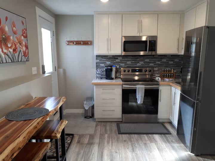 Centrally located bright basement suite