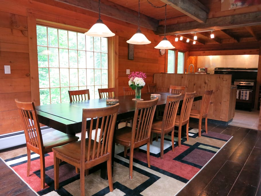 Long Dining Table accommodates 12 people