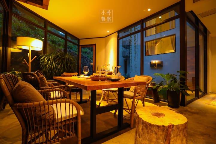 独幢独立式庭院 雁荡山风景区 开放式厨房 美好山居