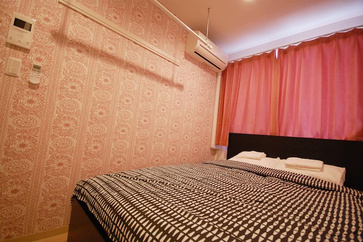 Near Shinjuku and Shibuya! Free Wi-fi Double bed
