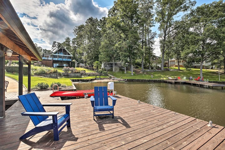 NEW! Upscale Lake Living: Private Dock and Beach!