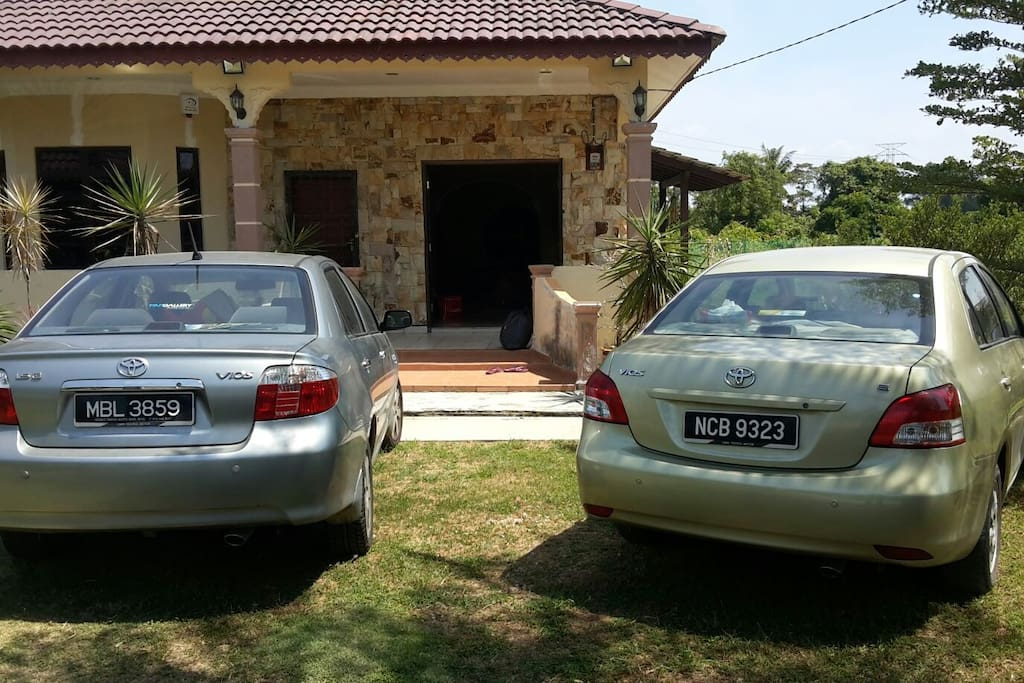My guest's cars.