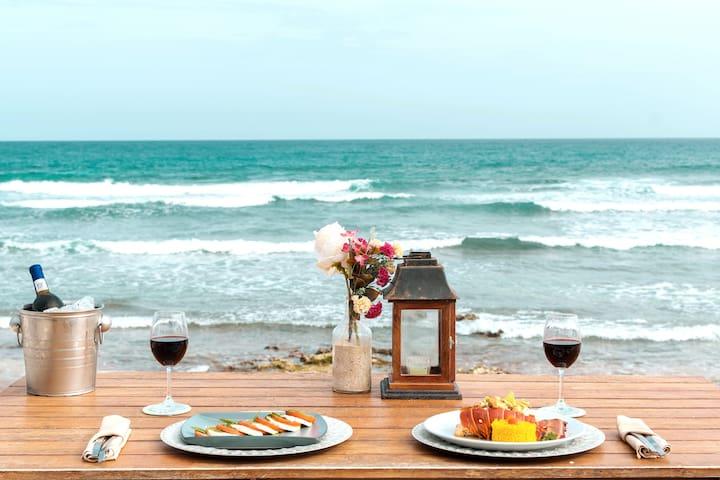 OPEN Romantic spot at Tulum, Breakfast & oceanview