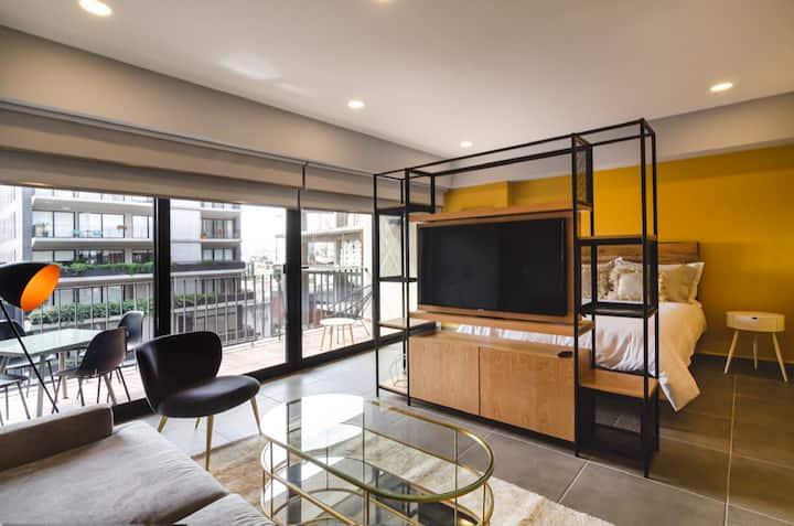 Moderno departamento/loft con terraza en León