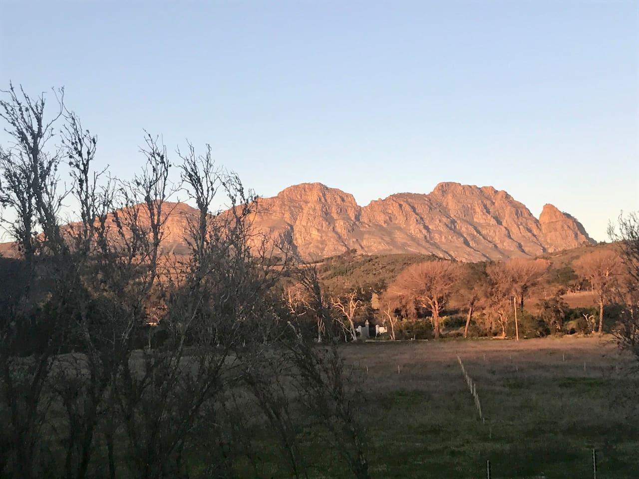 View of Simonsberg Mountain.