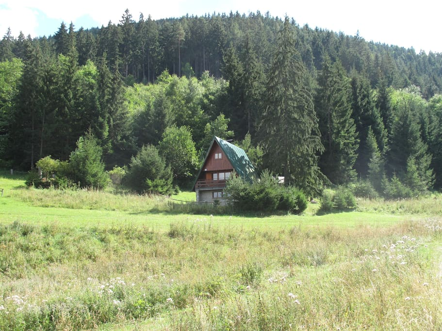 cottage from meadow