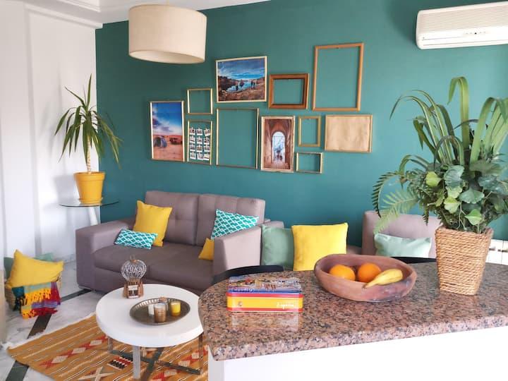Quiet Guest's Corner in the heart of La Marsa