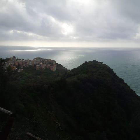 view from the footpath to Vernazza on January