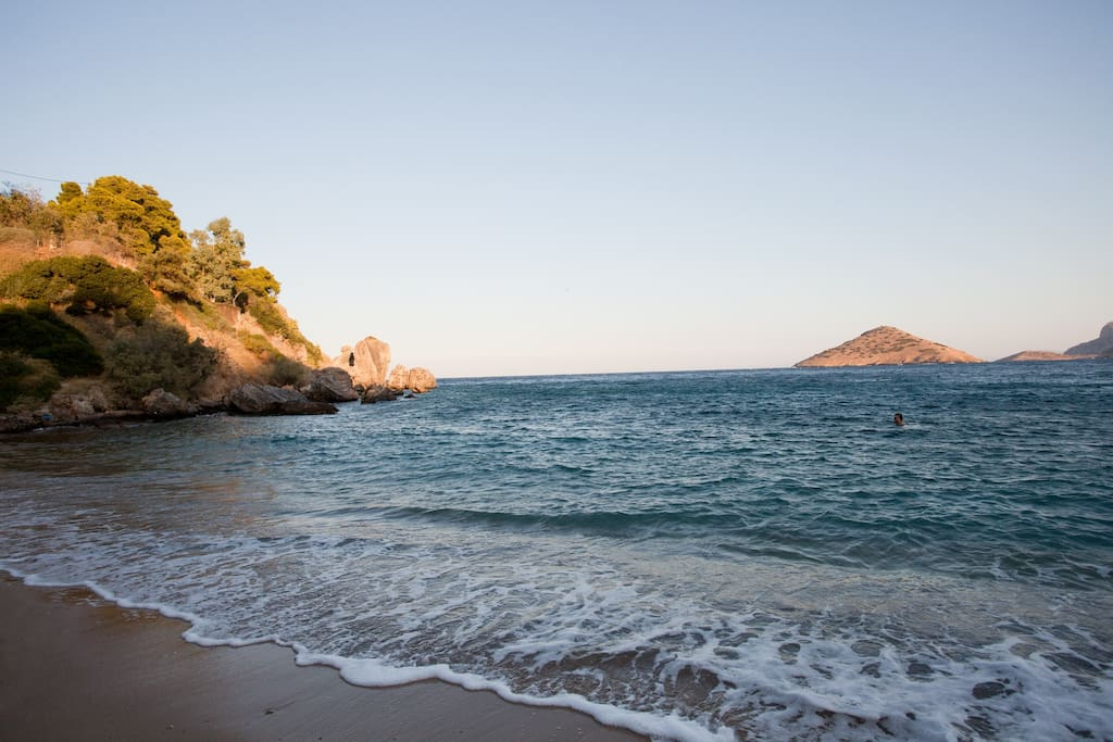 Beach, Spilia to Erota on left of the house