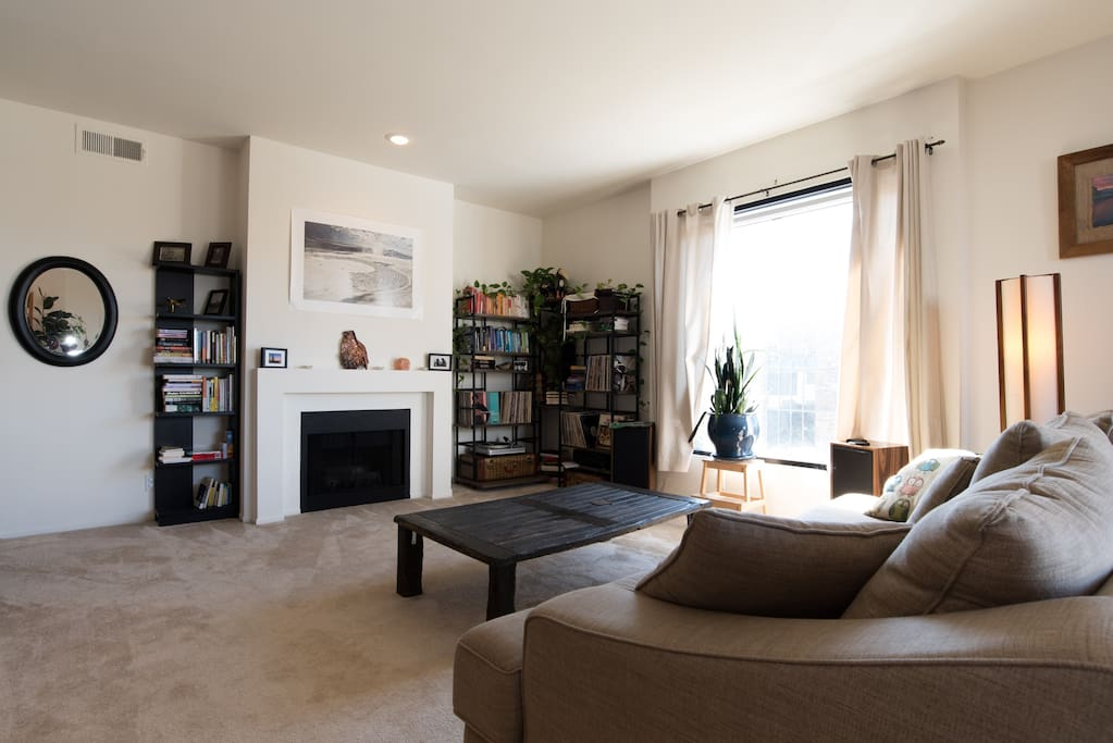 Spacious living space, which opens up to the balcony.