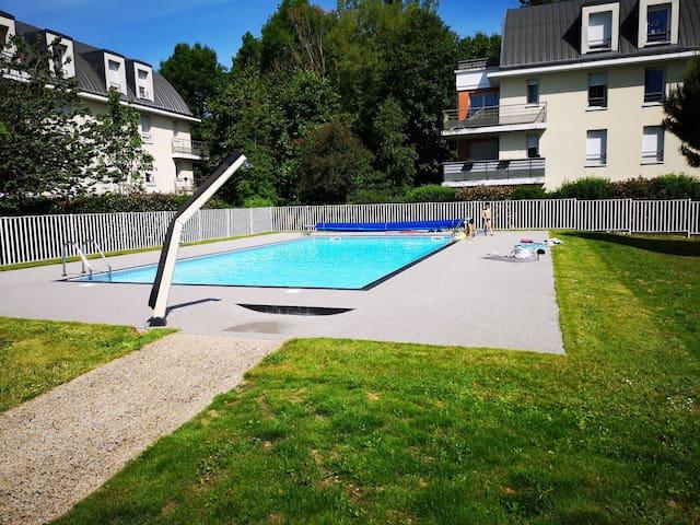 """Appart """"la clairette"""" Rouen piscine parking 4 pers"""