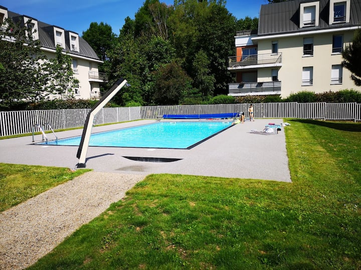 "Appart ""la clairette"" Rouen piscine parking 4 pers"