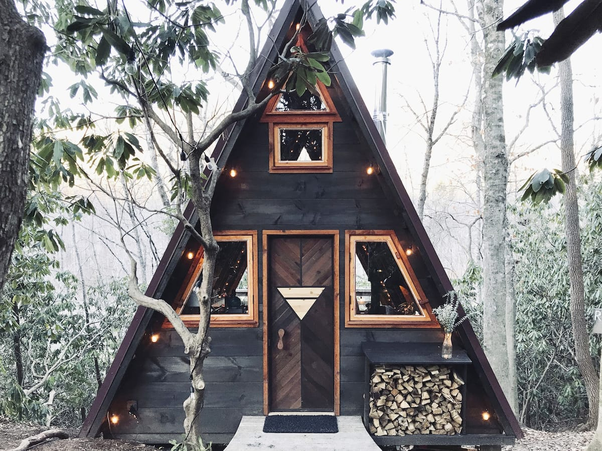 A-Frame Airbnb in Asheville