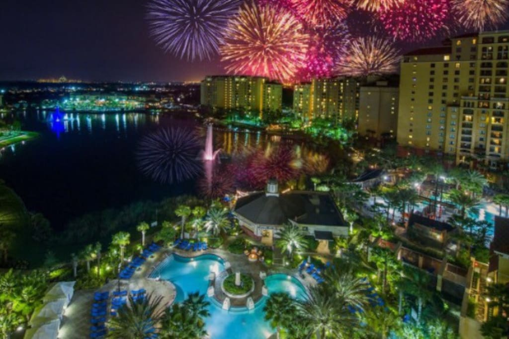 With five pools, two lazy rivers, two waterslides, several hot tubs, mini golf, activities center, several arcades, and an awesome view of the disney fireworks, this is the perfect vacation.