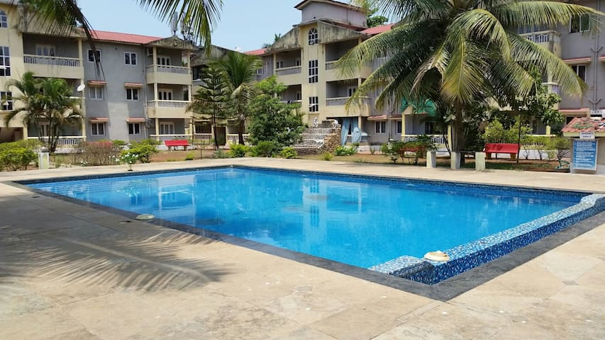 Furnished 2 BHK with pool in Siolim Goa