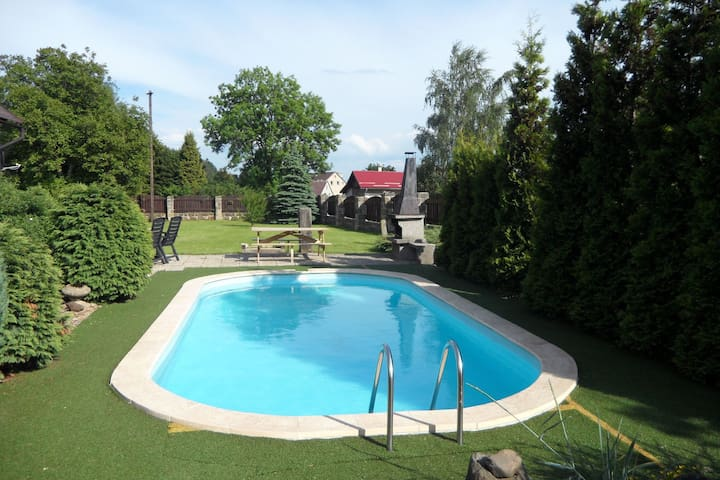 Spacious Holiday Home in Arnultovice with Swimming Pool