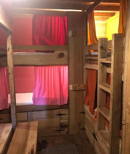 Bed in Bunkhouse @ Boots Off Hostel & Campground