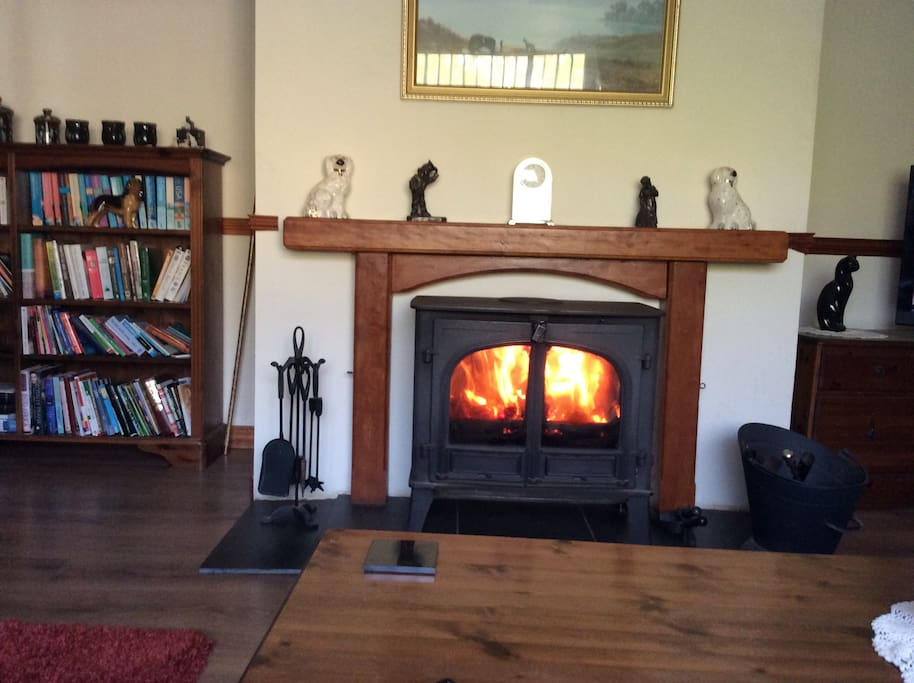 Cosy peat fire for these chilly evenings