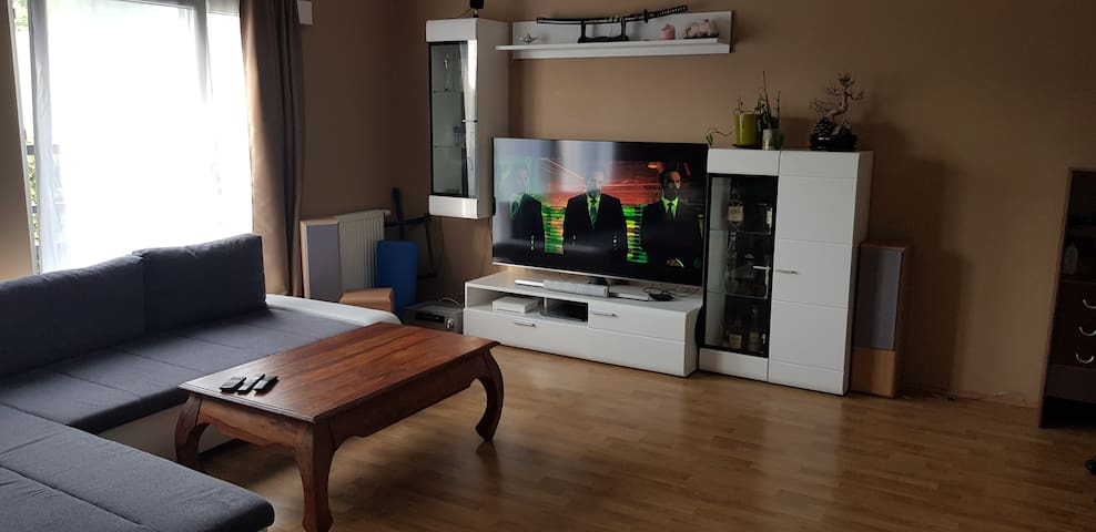 1 bedroom with balcony, view to the city
