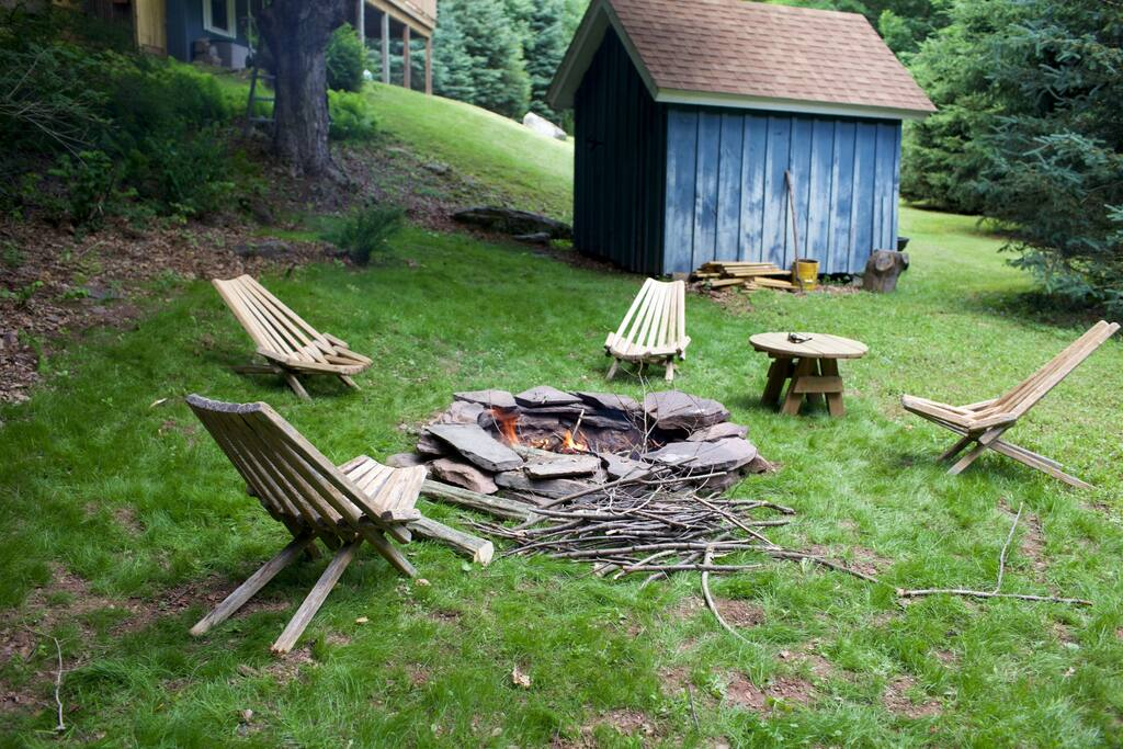 Firepit and large lawn