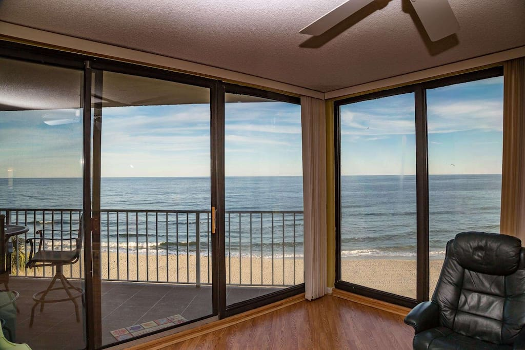 Two walls of floor to ceiling glass to enjoy the spectacular beach and ocean view