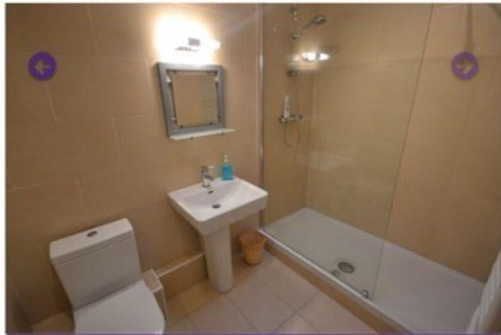 Second bathroom, double shower