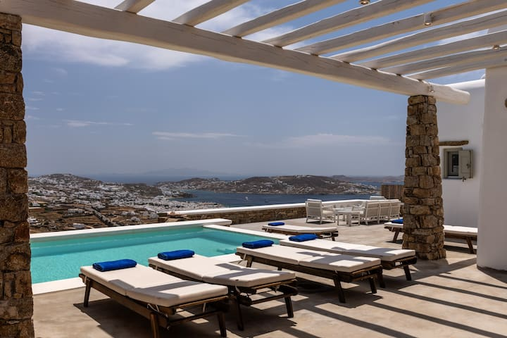 Mykonos Divino 3 bds Sea View Villa - private pool