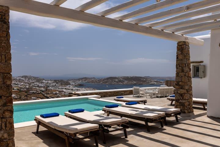 Mykonos Divino 3 bds Sea View Villa - private pool