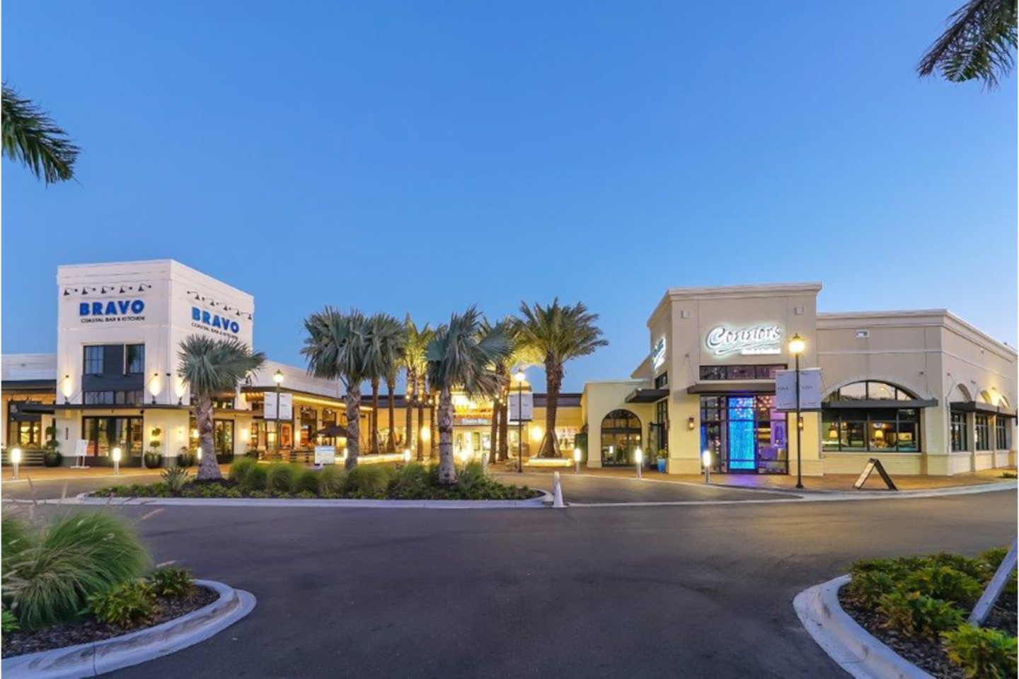 Upscale Shops, Restaurants, & Cinebistro Movies within one minute drive.
