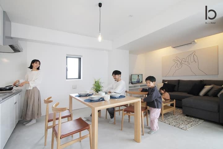 bhotel1001 Brand new Apt Famous Hiroshima heiwa-odori 6p