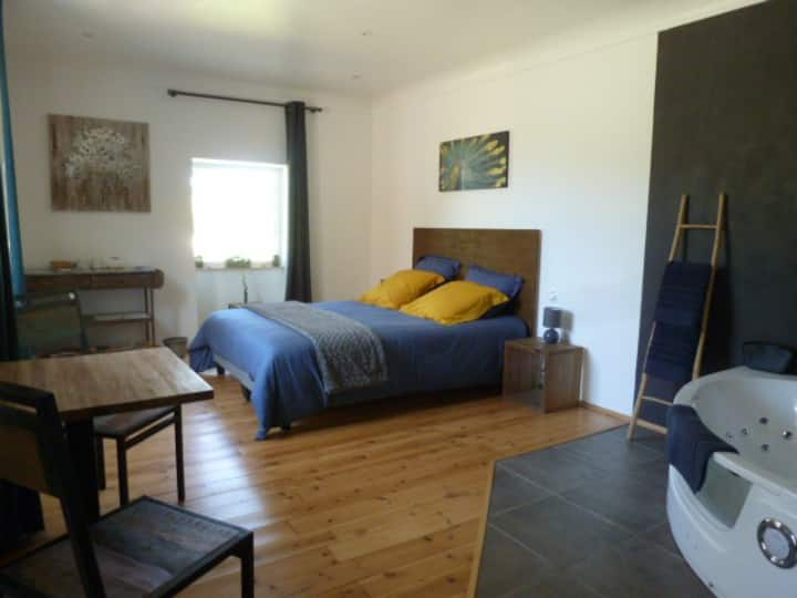 Chambre Lilas avec balnéo privative