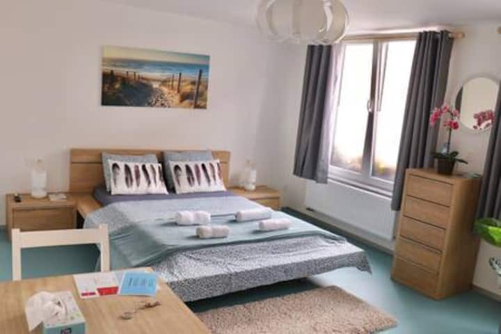 Private, quiet & trendy top room in city Ghent
