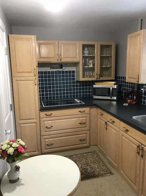 Shared kitchen located in the basement