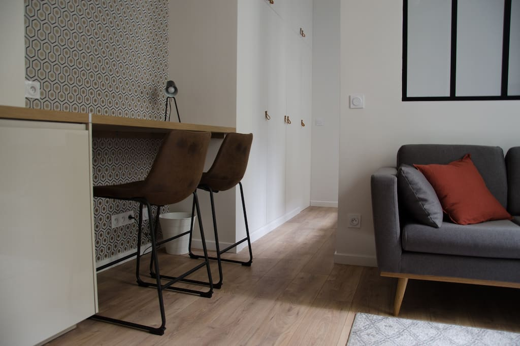View of the newly renovated apartment.
