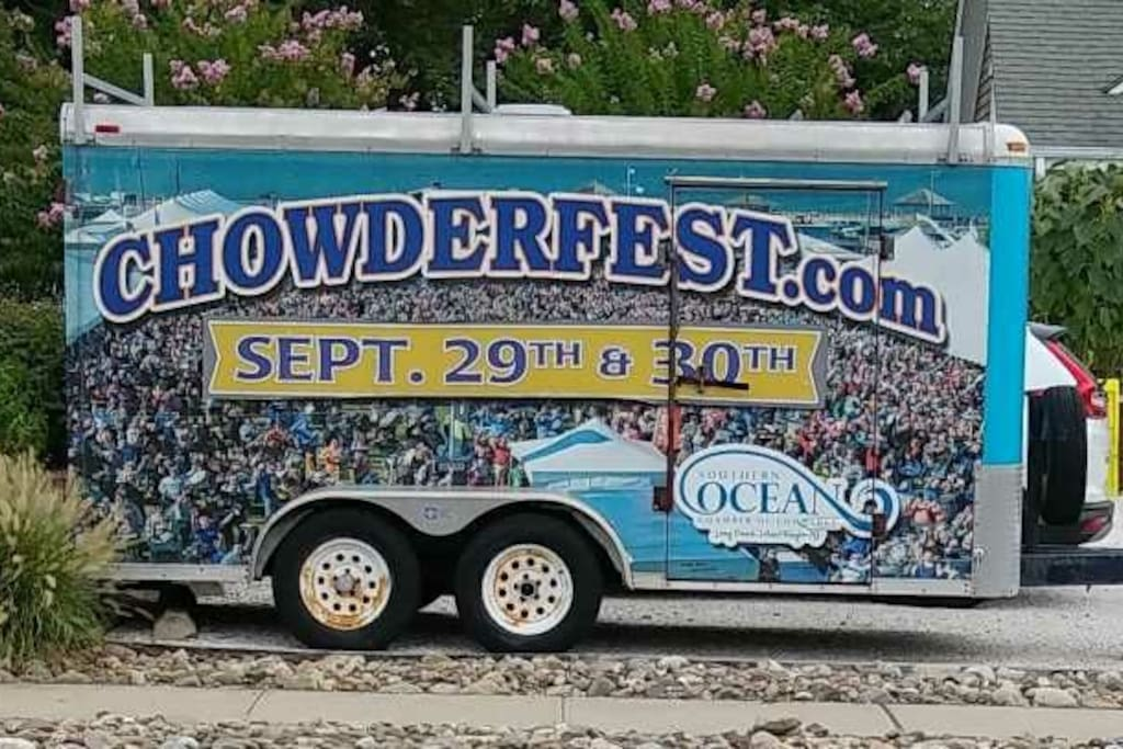 Sept. 29 & 30th Chowderfest pick your favorite chowder.  Live music