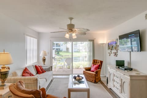 Lake View-Tiled Ground Floor- 5 min drive to Beach