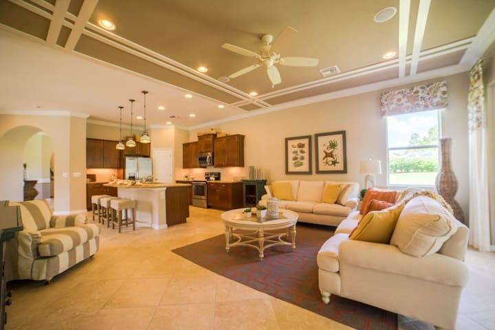 Private, 55+ Gated Community, Full Activity Center, Luxury! Free Bikes, Short Walk to Town Center.