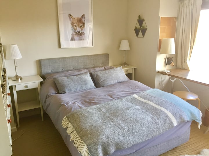 Quiet double Room in Totnes with views and parking