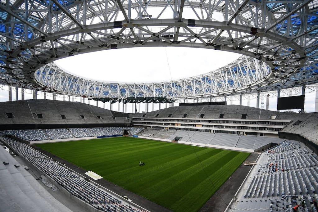 Football stadium in Nizhny Novgorod