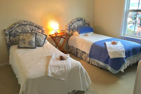 Cozy bedroom with twin beds and private bath - Alexandria