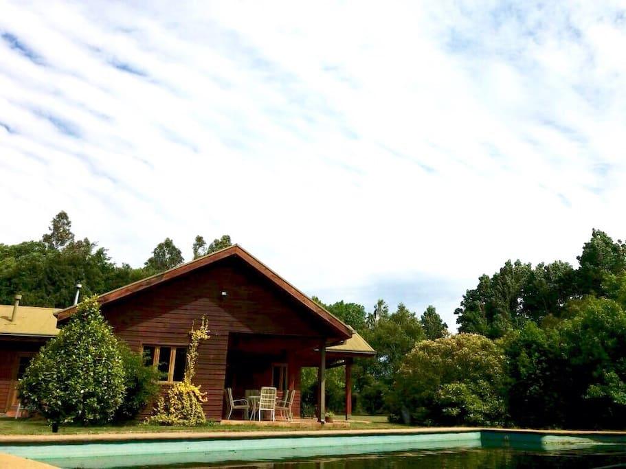 Casa de campo con piscina negrete biob o chile houses - Piscina casa de campo ...