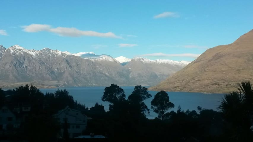 View of the Remarkables and Cecil Peak from private living room