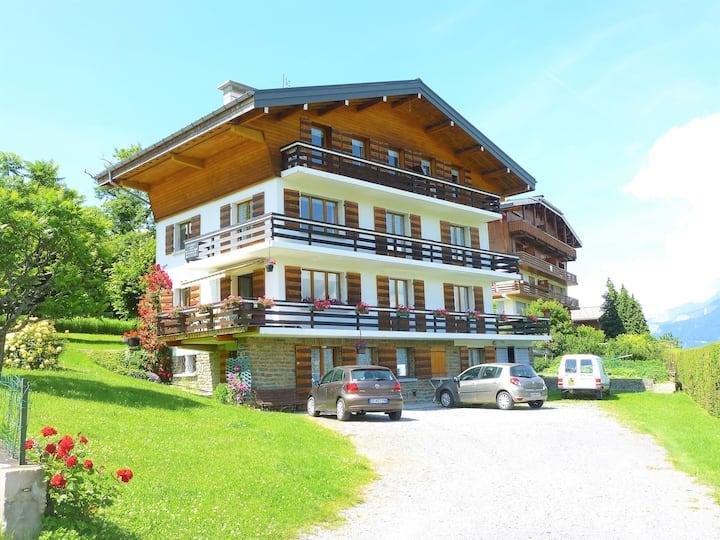 Vacances face au Mont-Blanc