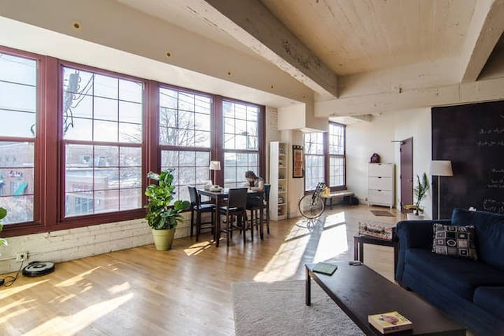 1 bedroom and private bath @ Cleveland Loft