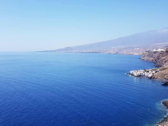 Ocean view terrace with pool