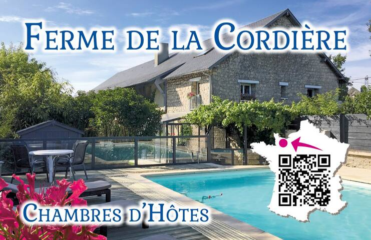 """Ferme de la Cordière""  Bed and Breakfast  ."