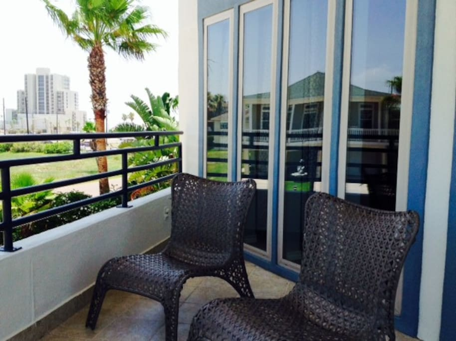 Patio provides beach & bay View