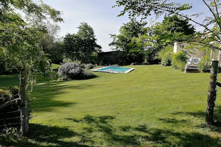 Twin countryside gites + pool, BBQ & local beer