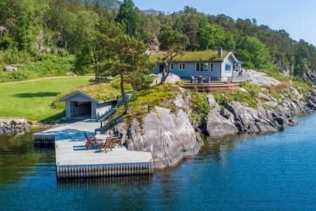 Waterfront cabin in unique location