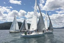 Sailing on Lake Pend Oreille.